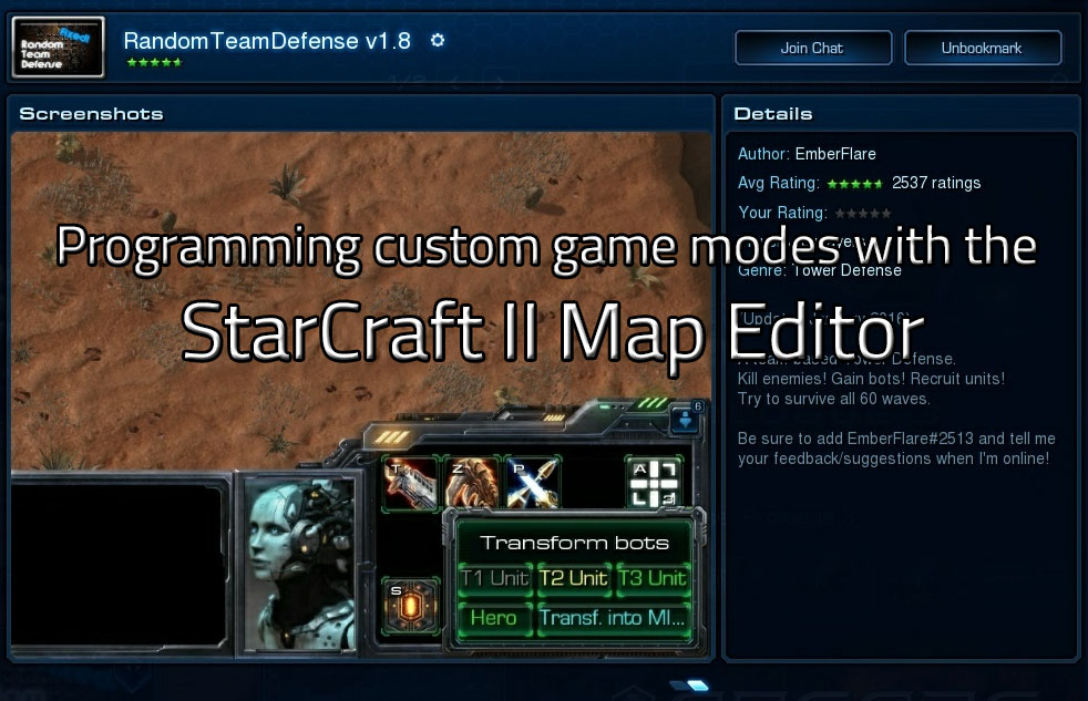 Thumbnail of Programming custom game modes for StarCraft II